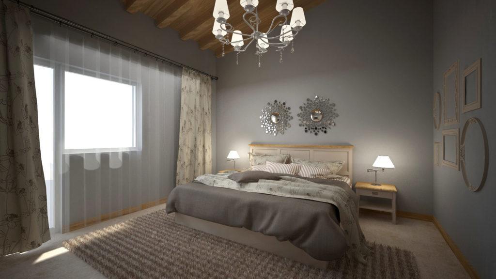 интериорно проектиране Калипетровска спалня - Ведиинтериорс Варна