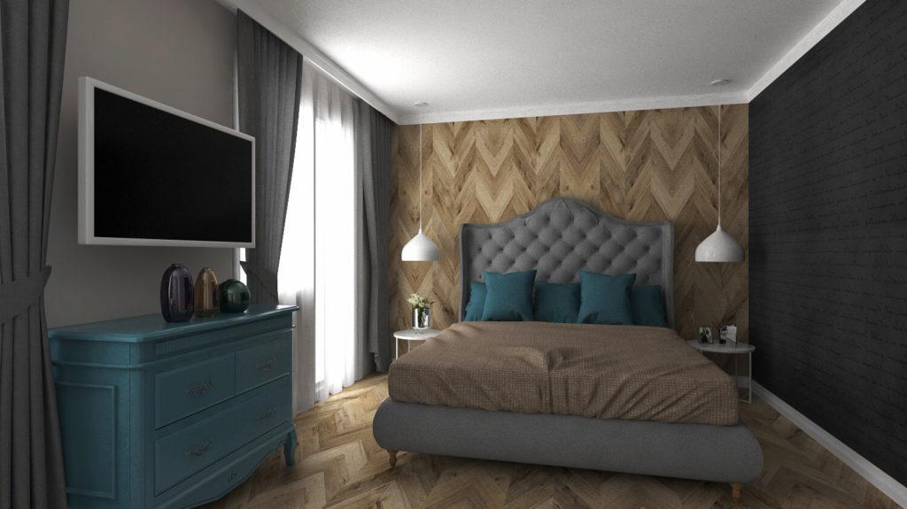 интериорно проектиране Женя Спалня - Ведиинтериорс Варна